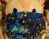 Gold Star Blue Galaxy Washable Filter Pocket Multi Layers Fabric Mask