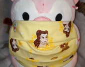Belle Faces Beauty and the Beast Washable Filter Pocket Multi Layers Fabric Mask
