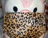 Big Cat Leopard Print Washable Filter Pocket Multi Layers Fabric Mask