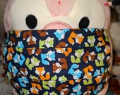 Colorful Fox Washable Filter Pocket Multi Layers Fabric Mask