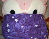 Purple Spiral Scrolls Galaxy with Stars Washable Filter Pocket Multi Layers Fabric Mask