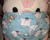 Flying Squirrels Washable Filter Pocket Multi Layers Fabric Mask