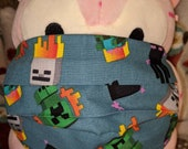 Minecraft Baby Mobs Washable Filter Pocket Multi Layers Fabric Mask