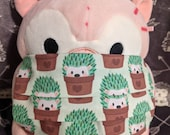 Hedgehog Potted Plants Cotton Washable Filter Pocket Multi Layers Fabric Mask