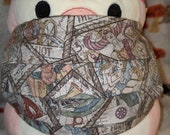 Tarot Cards Tossed Washable Filter Pocket Multi Layers Fabric Mask
