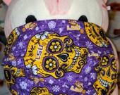 Louisiana State University Sugar Skulls Tigers Washable Filter Pocket Multi Layers Fabric Mask