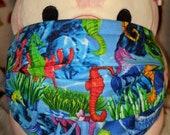 Rainbow Seahorses Ocean Washable Filter Pocket Multi Layers Fabric Mask