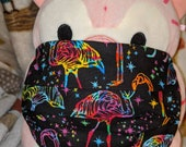 Flamingos Rainbow Galaxy Stardust Washable Filter Pocket Multi Layers Fabric Adult Size Mask