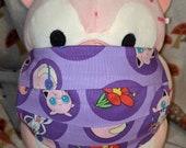Purple Pokémon Jigglypuff Washable Filter Pocket Multi Layers Fabric Mask