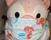 Princess Ariel The Little Mermaid Washable Filter Pocket Multi Layers Fabric Mask