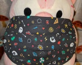 Video Game Doodles Mario Zelda Animal Crossing Washable Filter Pocket Multi Layers Fabric Mask
