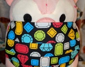 Video Game Precious Gem Rewards Washable Filter Pocket Multi Layers Fabric Mask