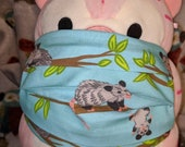 Opossum family in trees Washable Filter Pocket Multi Layers Fabric Mask