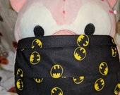 Vintage Batman Signal Logo Black Washable Filter Pocket Multi Layers Fabric Mask