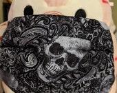 Skulls Damask Gothic Washable Filter Pocket Multi Layers Fabric Mask