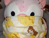 Belle Gown and Faces Beauty and the Beast Washable Filter Pocket Multi Layers Fabric Mask
