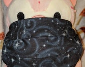 Black Spiral Galaxy Washable Filter Pocket Multi Layers Fabric Mask