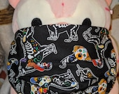 Day of the Dead Dogs Sugar skull Washable Filter Pocket Multi Layers Fabric Mask
