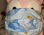Princess Cinderella Gown Washable Filter Pocket Multi Layers Fabric Mask
