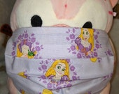 Princess Rapunzel Tangled Washable Filter Pocket Multi Layers Fabric Mask