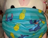 Stitch Loves Pineapples Washable Filter Pocket Multi Layers Fabric Mask