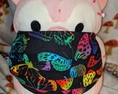 Rainbow Butterflies Washable Filter Pocket Multi Layers Fabric Mask