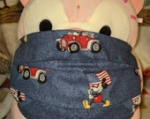 Patriotic Mickey Mouse Washable Filter Pocket Multi Layers Fabric Mask