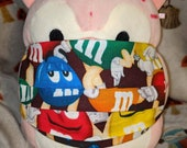 M&Ms Mars Candy Washable Filter Pocket Multi Layers Fabric Mask