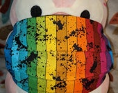 Black Splatter Rainbow Washable Filter Pocket Multi Layers Fabric Mask