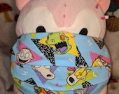 90s Nickelodeon AHH Real Monsters Rocko Ren and Stimpy Catdog Rugrats Reptar Washable Filter Pocket Multi Layers Knit Cotton Fabric Mask