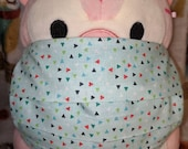 Confetti Washable Filter Pocket Multi Layers Fabric Mask