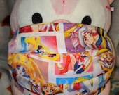 Sailor Moon Sailor Scouts Anime Washable Filter Pocket Multi Layers Fabric Mask
