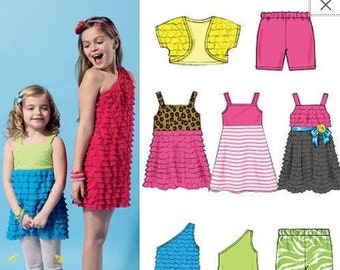 McCalls Sewing Pattern M7376 Children/'s//Girls/' Blouson-Bodice Rompers and Jum...