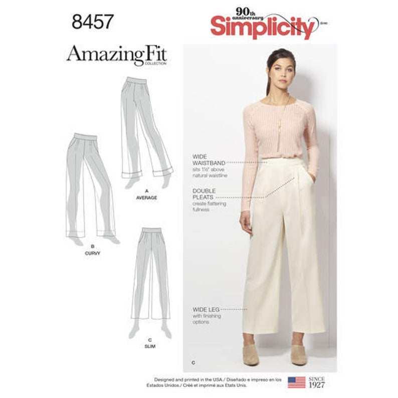 02233e8f2673 Simplicity Amazing Fit Pattern 8457 TROUSERS with VARIATIONS