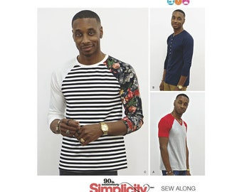 Simplicity Pattern 8613  Men's Knit Top  by mimiGstyle. Size XS - XL.