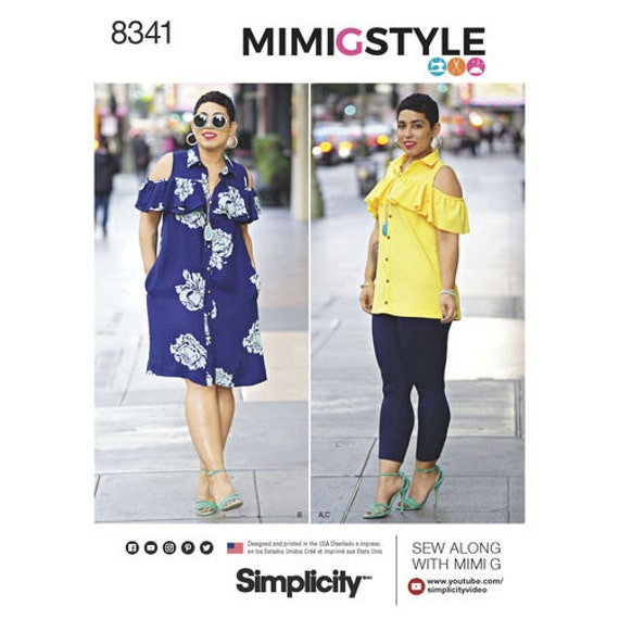 8466 Size 6-14 Skirt Knit Top Simplicity MimiGstyle Sewing Pattern D0756
