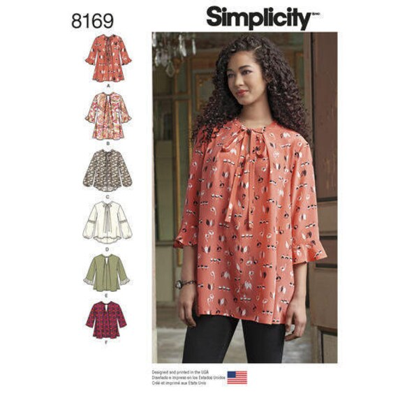 62e8a5708913 Simplicity Pattern 8169 S0991 Misses  Loose-Fitting Tunic