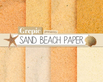 """Digital paper beach: """"SAND BEACH PAPER"""" with sand digital paper in different shades of sand colors for beach scrapbooking, invites, cards"""