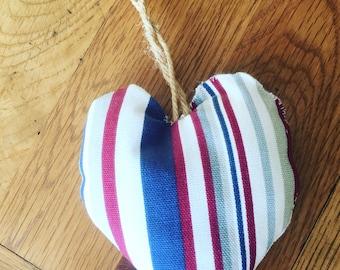 Nautical fabric heart