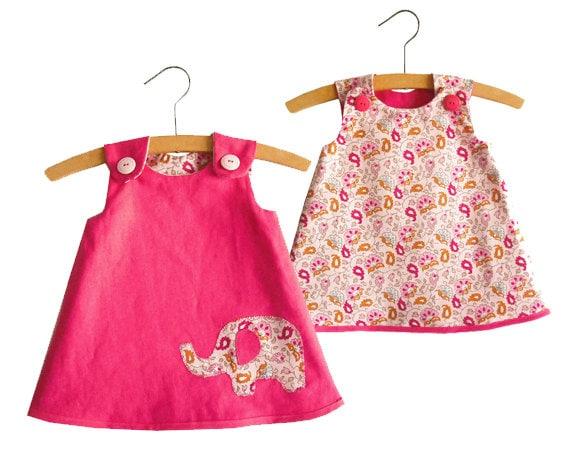 Größe 2 t-6/Mädchen reversibel A Linie Kleid Muster / Muster | Etsy