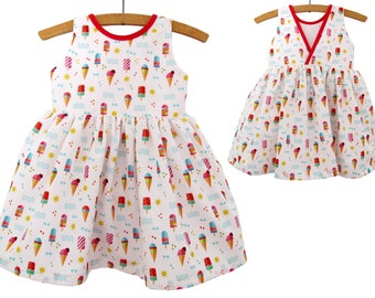 Size 2Y-12Y/ Party Girl Dress Pattern/ Toddler Dress Pattern/ Childrens Sewing Pattern/ Summer dress pattern/PDF Easy Sew
