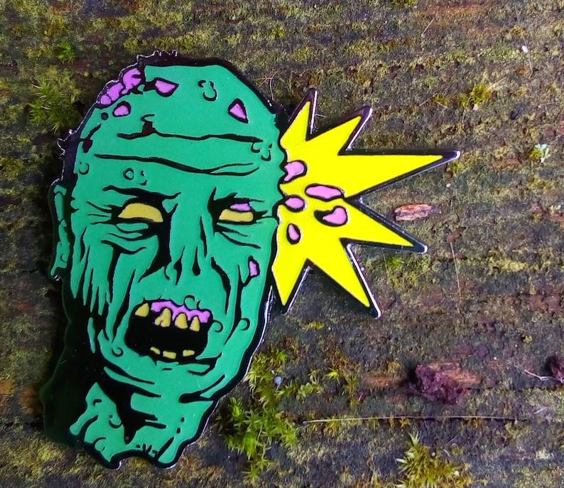 Headshot zombie enamel pin image 0