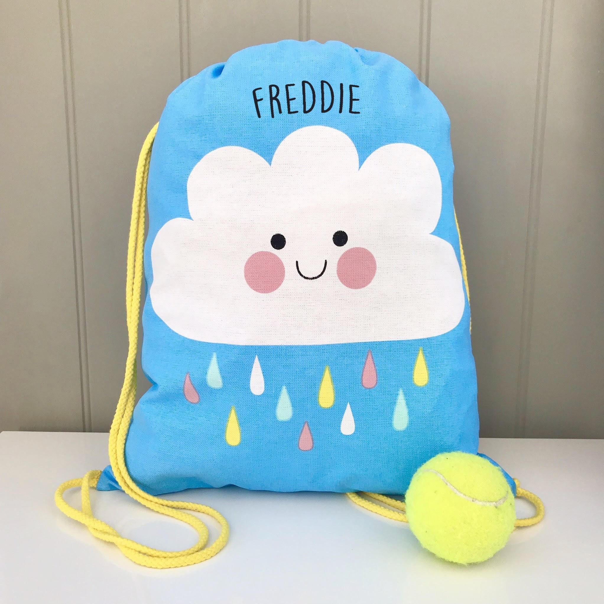 Personalised Zebra Gym Bag Swim Nursery Drawstring School PE Kit Sports Kids