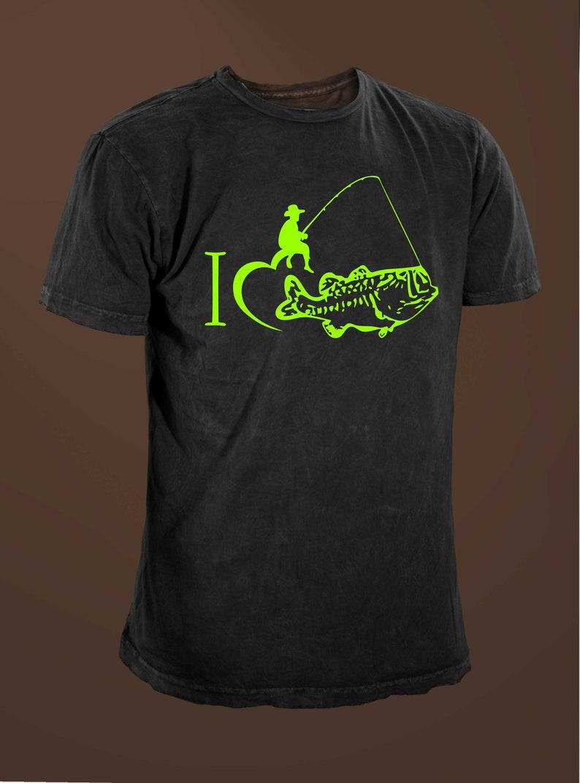 246fccf55 I Love Bass Fishing Funny Fishing T-shirt | Etsy