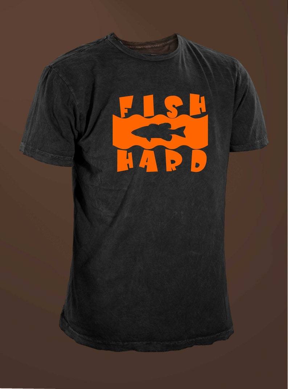 Fish Hard Bass Underwater Funny Fishing T-shirt