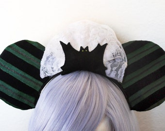 The 'Deathly Maid' Ears - Haunted Mansion Maid Disneyland WDW Cast Member Inspired Mickey Ears