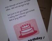 Ex Husband Birthday Card Handmade Cards Greeting Boyfriend