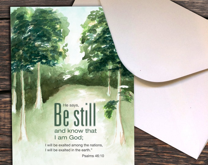 Notecards - Psalm 46:10 Be Still and know that I am God
