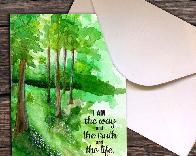 Notecards - John 14:6 I am the way and the truth and the life.