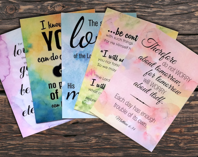 Washed by Grace Notecards - Set of 10 (2 of each design)